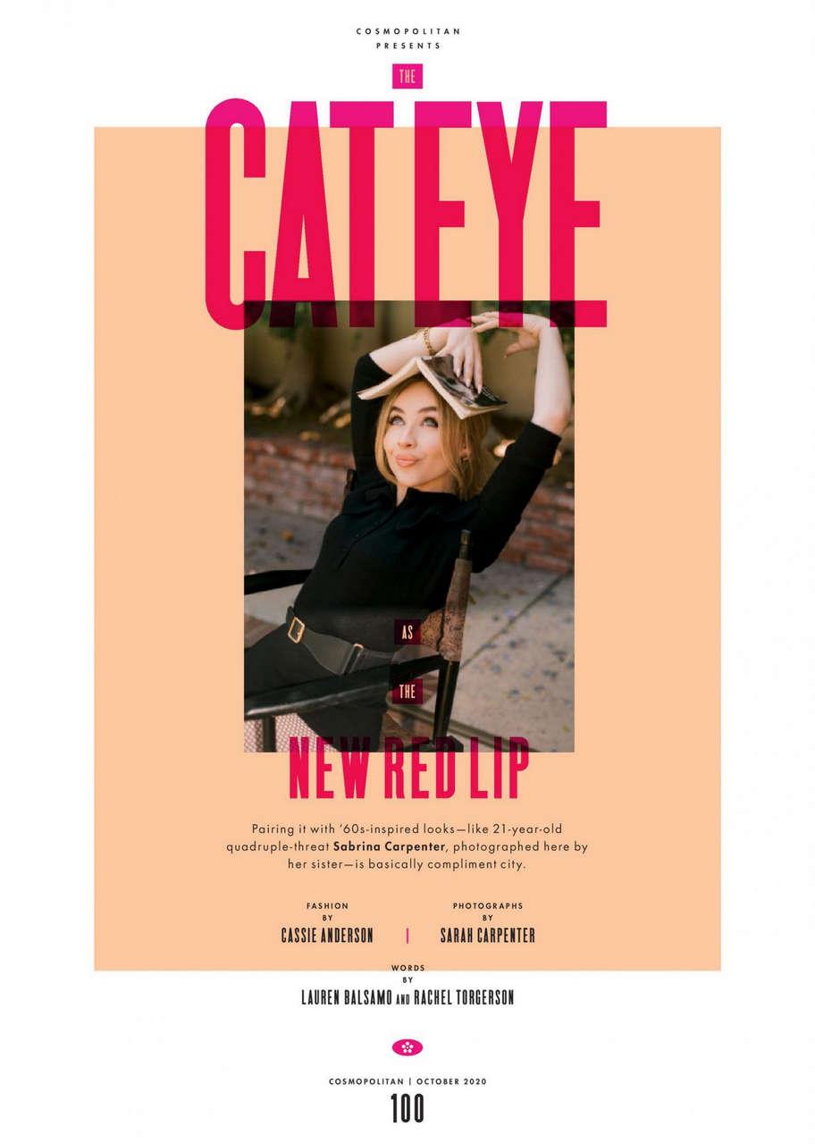 Sabrina Carpenter Cosmopolitan Magazine October