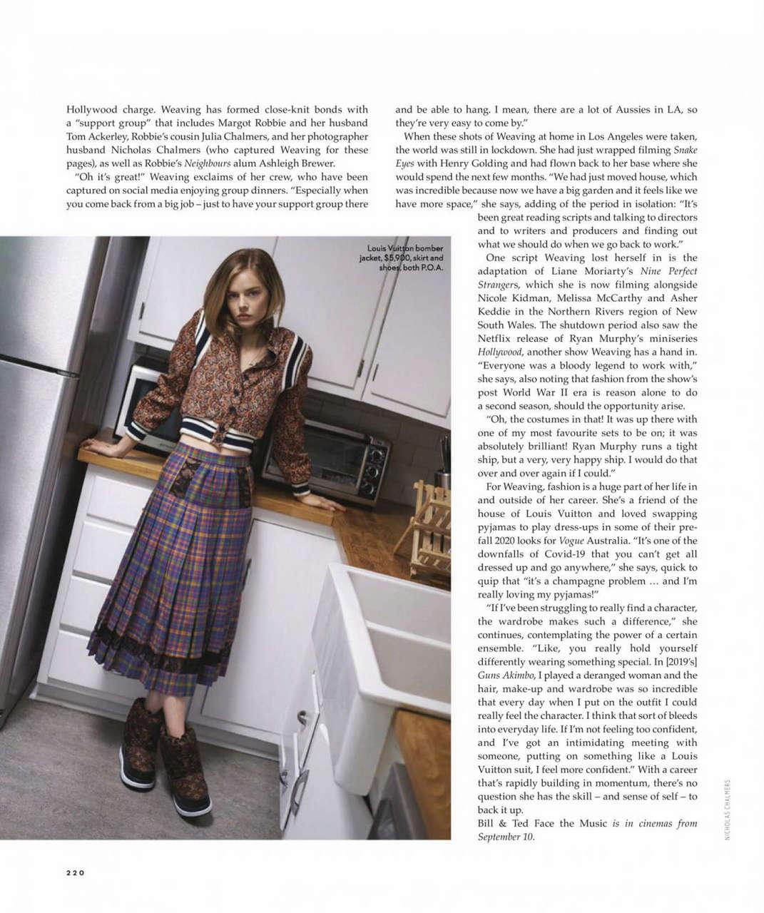 Samara Weaving Vogue Magazine Australia September
