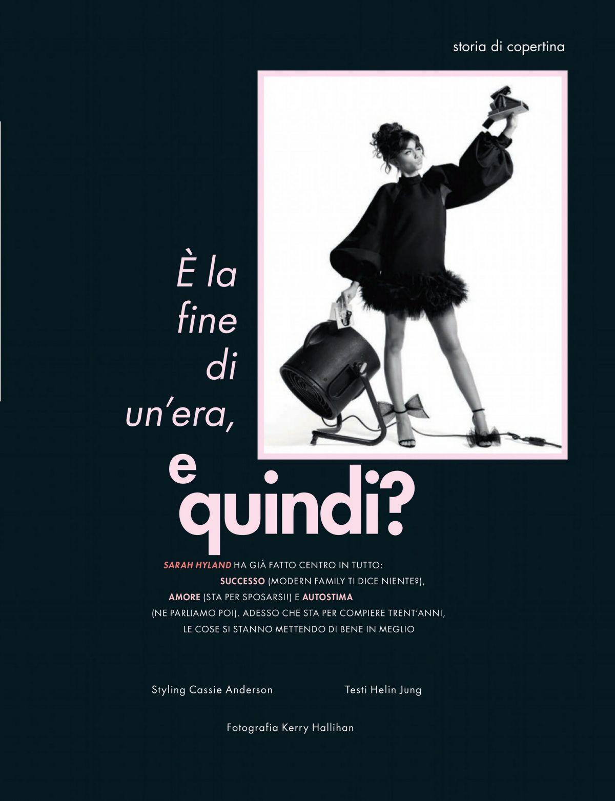 Sarah Hyland Cosmopolitan Magazine Italy August