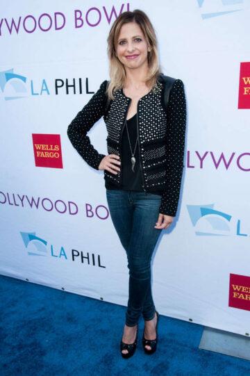 Sarah Michelle Gellar 2014 Hollywood Bowl Hall Fame Opening Night Concert