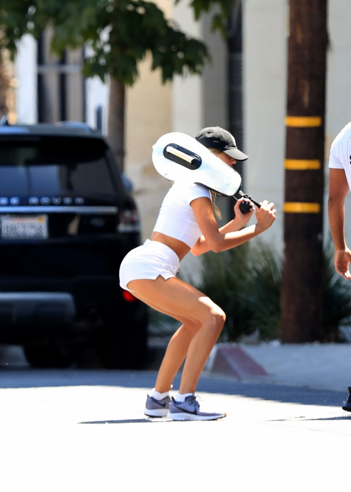 Scarlet Sophia Stallone Outdoor Workout Session West Hollywood