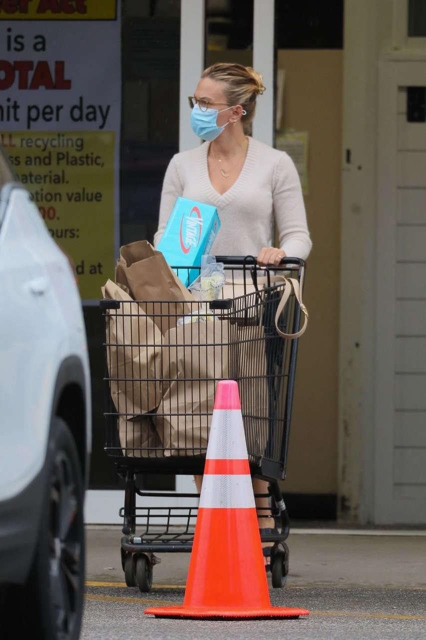 Scarlett Johanson Shopping For Grocery New York