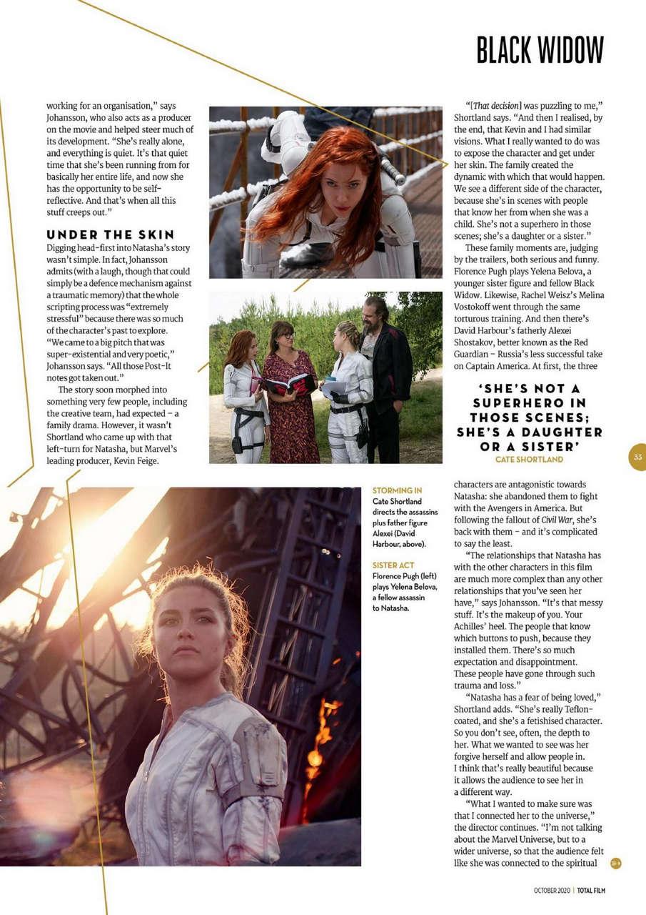 Scarlett Johansson Florence Pugh Total Film Magazine October