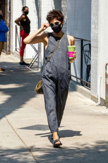Selma Blair Wearing Mask Out Los Angeles