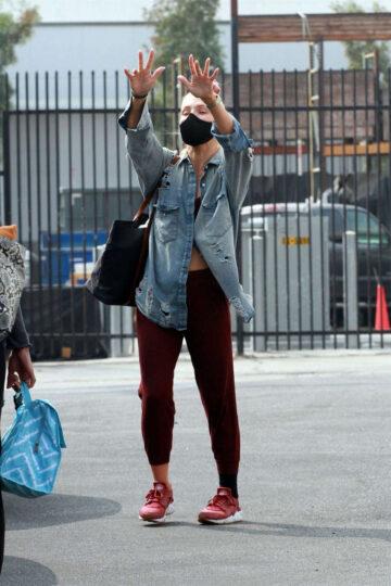 Sharna Burgess Britt Stewart Leaves Dwts Studio Los Angeles