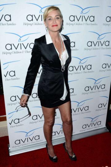 Sharon Stone Aviva Gala 2014 Los Angeles