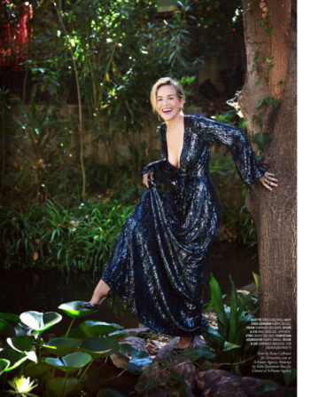 Sharon Stone Town Country Magazine October