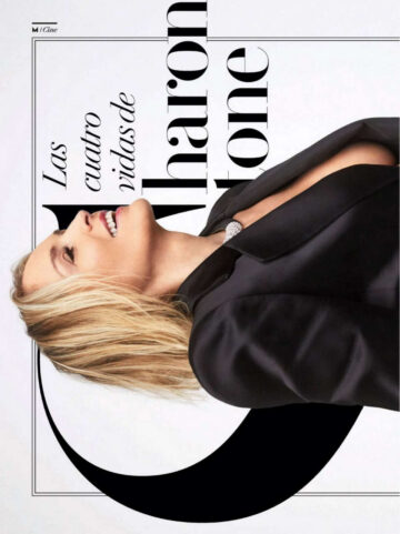 Sharon Stone Vanity Fair Magazine Spain October