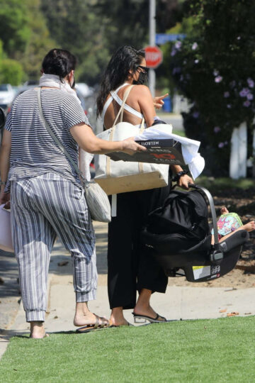 Shay Mitchell Arrives Friends House Studio City