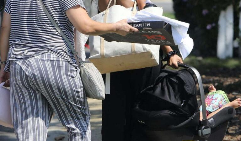 Shay Mitchell Arrives Friends House Studio City (6 photos)