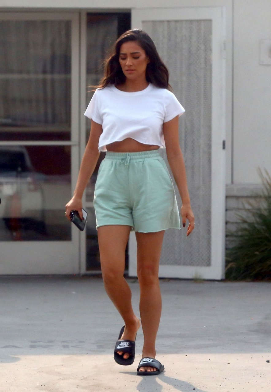 Shay Mitchell Set Of Revlon Commercial Los Angeles
