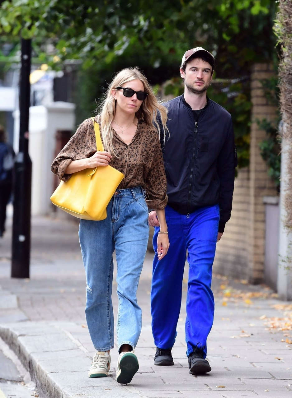 Sienna Miller Out About London