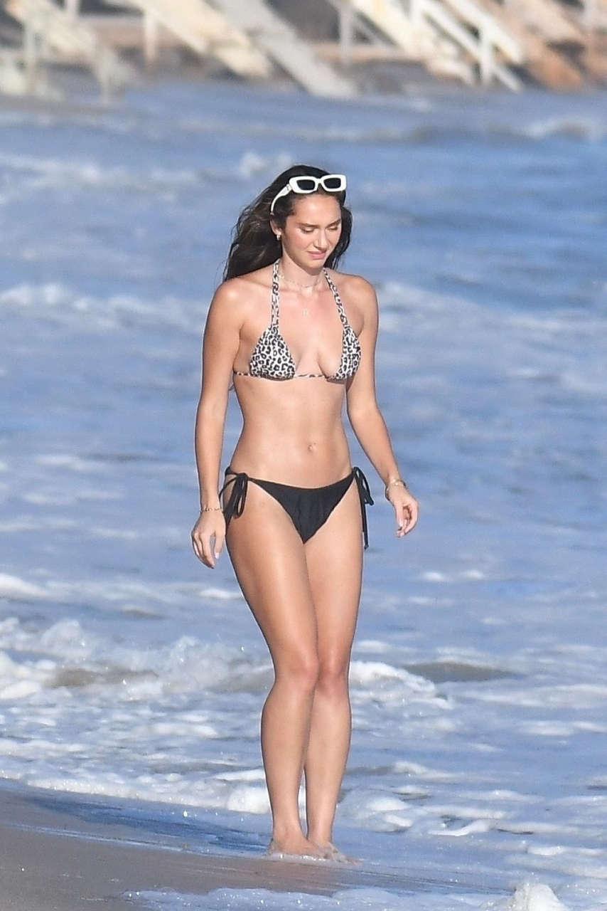 Sistine Rose Stallone Bikini Party Beach House Malibu