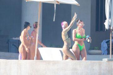 Sofia Richie Anastasia Karanikolaou Bikinis Pool Mexico