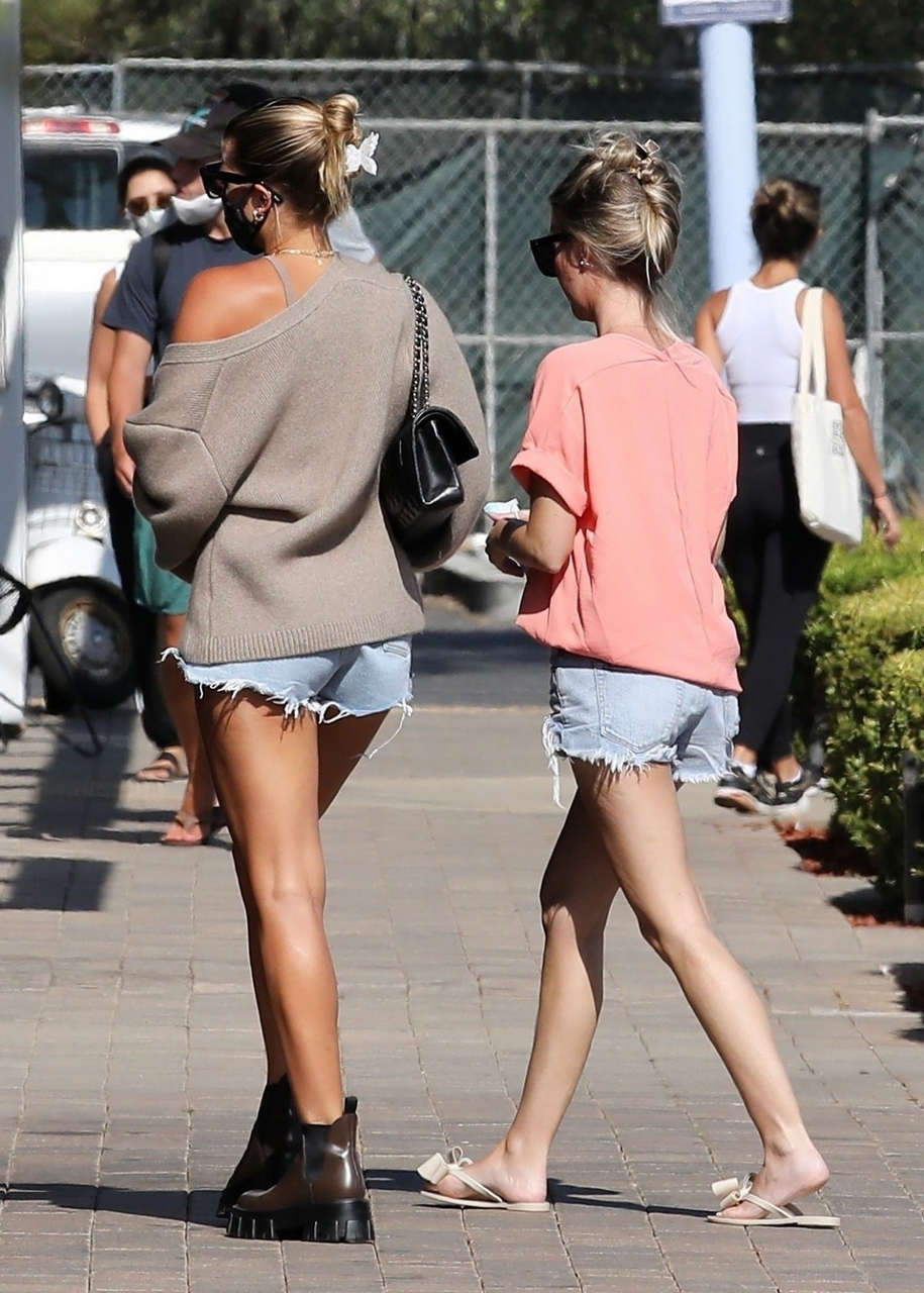 Sofia Richie Denim Shorts Malibu Country Mart
