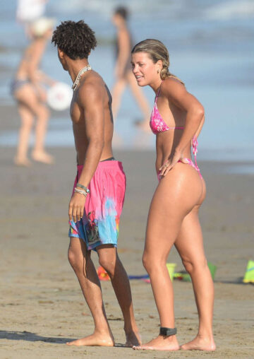 Sofia Richie Pink Bikini Beach Los Angeles