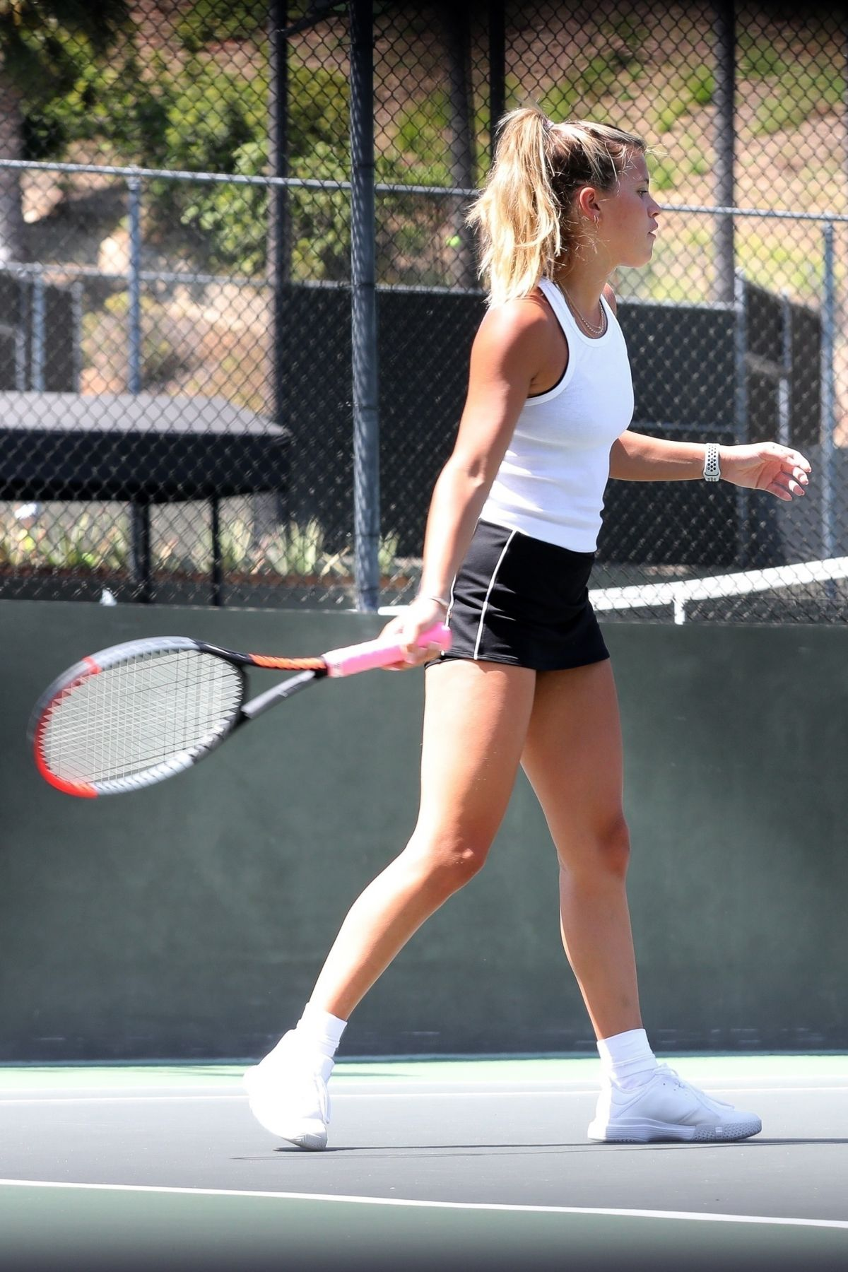 Sofia Richie Tennis Court Los Angeles