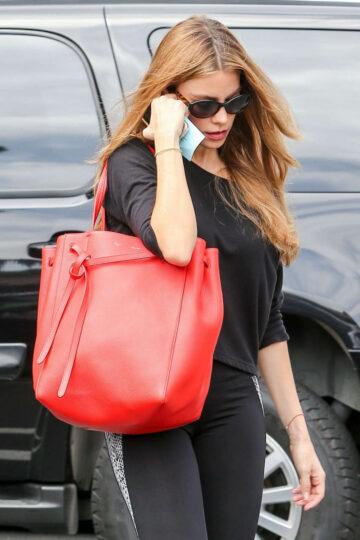 Sofia Vergara Tights Arrives Gym Los Angeles