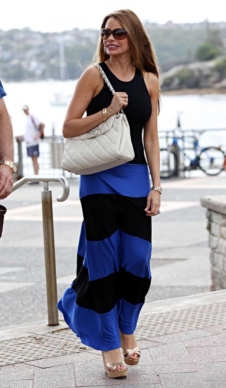 Sofia Vergara Walk Along Harbour Sydney