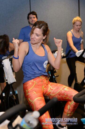 Sophia Bush Flywheel Sports Ride Benefit 100 Club Chicago