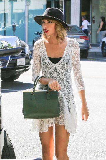 Taylor Swift Arrives Honor Bar Beverly Hills
