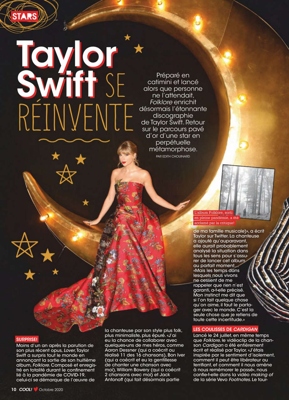 Taylor Swift Cool Canada Magazine October