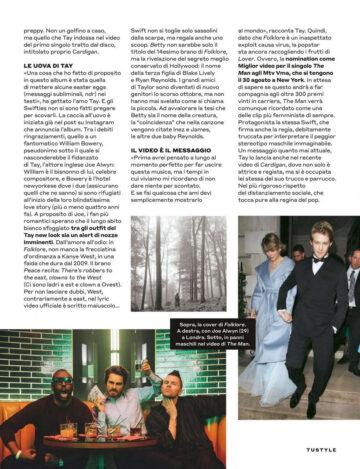 Taylor Swift Tu Style Magazine August