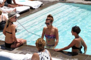 The Saturdays Bikinis Pool Their Hotel Los Angeles