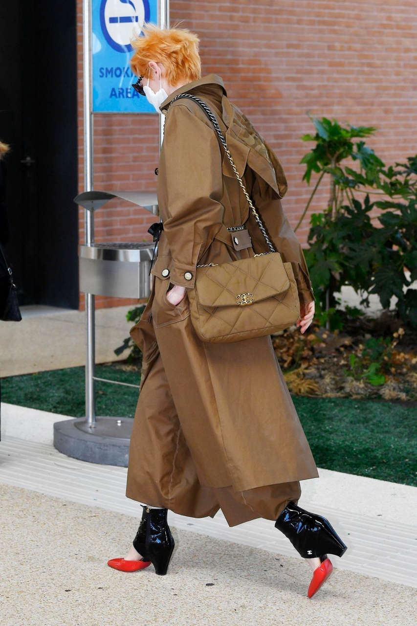 Tilda Swinton Arrives Venice Airport
