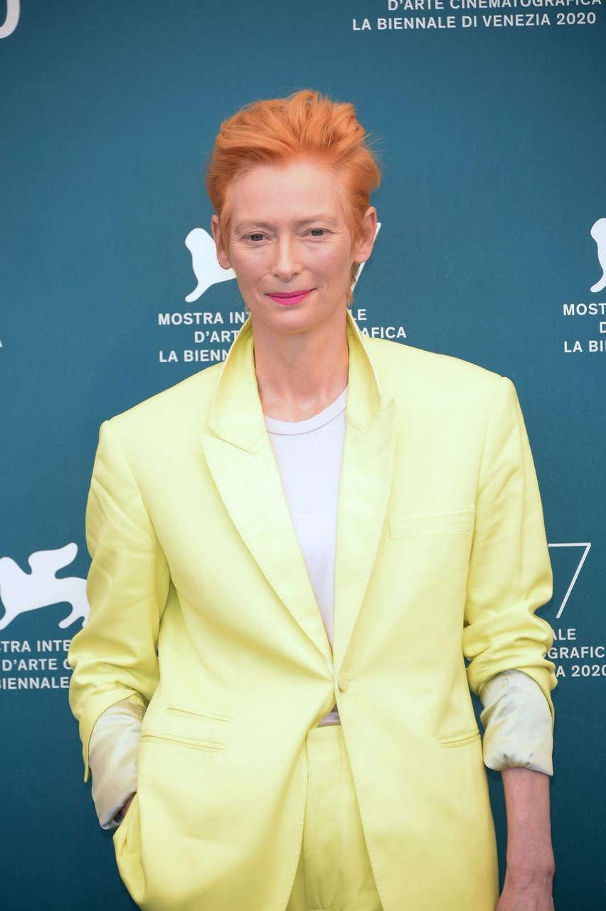 Tilda Swinton Human Voice Photocall 2020 Venice Film Festival