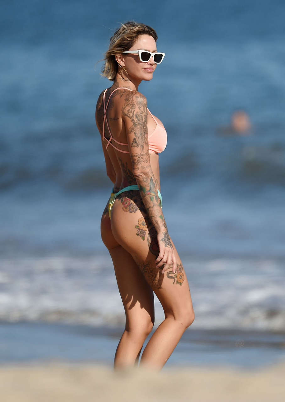Tina Louise Bikini Brian Austin Green Beach Los Angeles