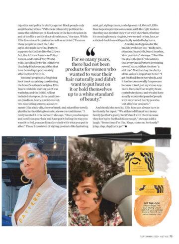 Tracee Ellis Ross Instyle Magazine September