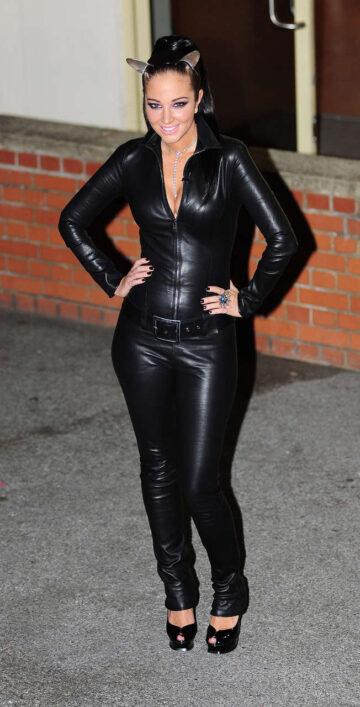 Tulisa Contostavlos Leather Suit
