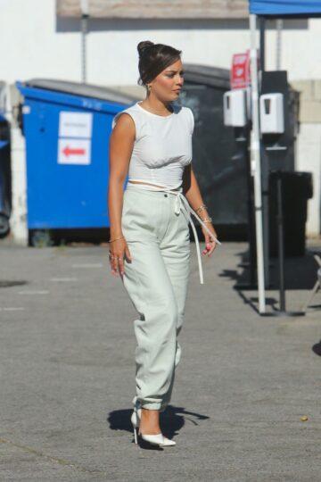 Vanessa Hudgens Arrives Set New Project Los Angeles