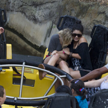 Vanessa Hudgens Ashley Benson Having Fun Busch Gardens Tampa Bay