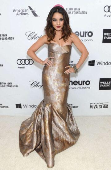 Vanessa Hudgens Elton John Aids Foundation Oscar Party Los Angeles