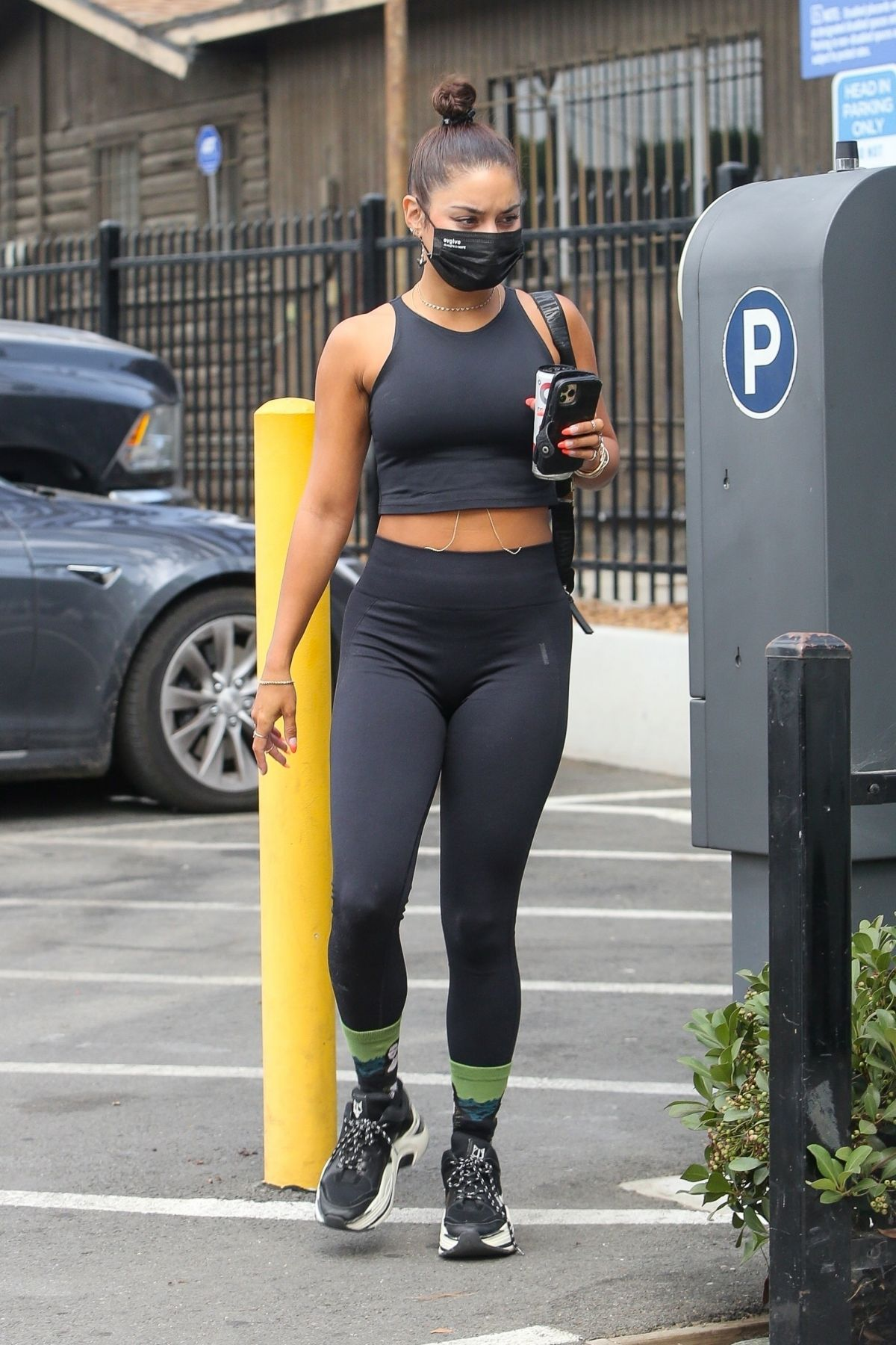 Vanessa Hudgens Tights Arrivres Gym Hollywood