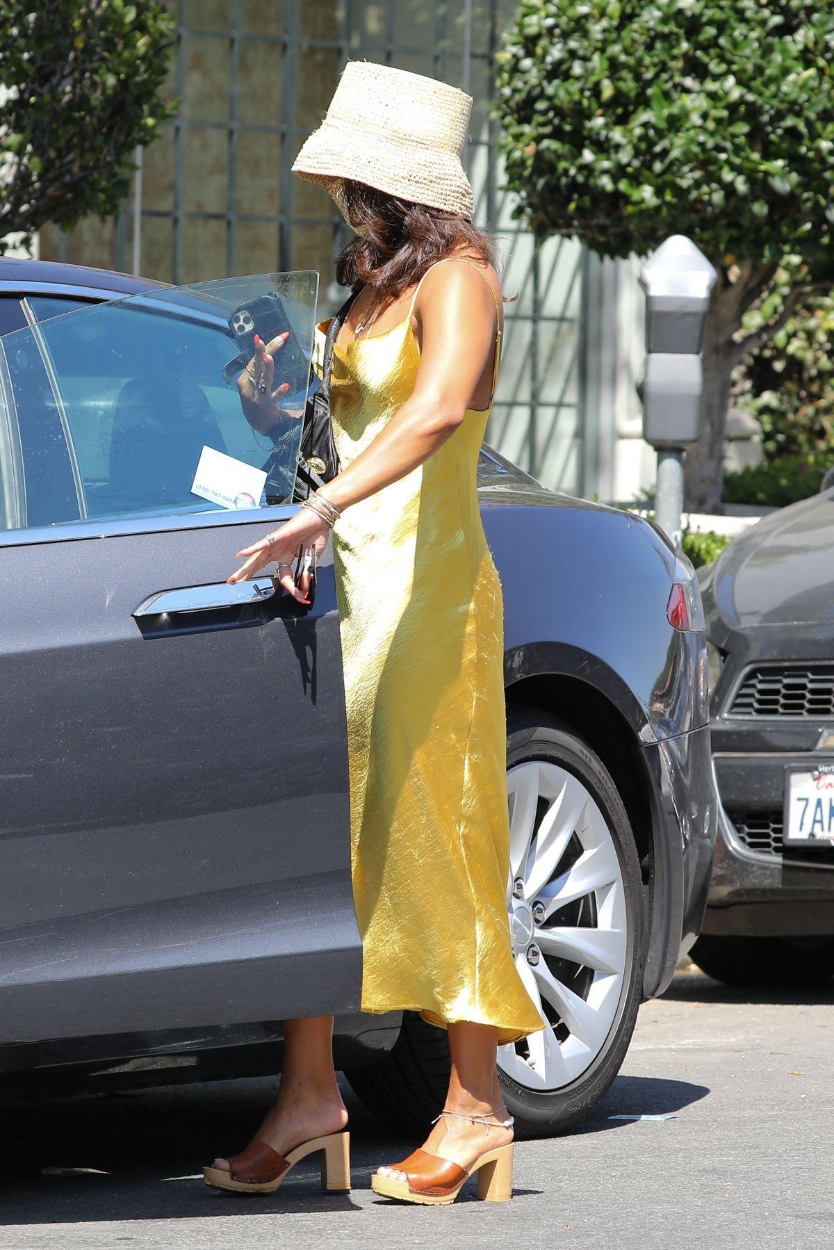 Vanessa Hudgens Yellow Dress Out Los Angeles