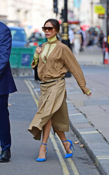 Victoria Beckham Out About London