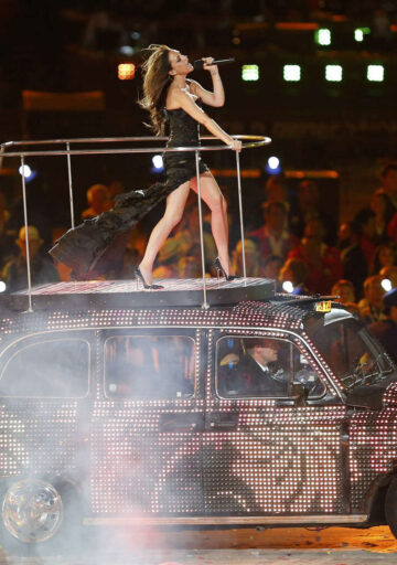Victoria Beckham Summer Olympics Closing Ceremony London