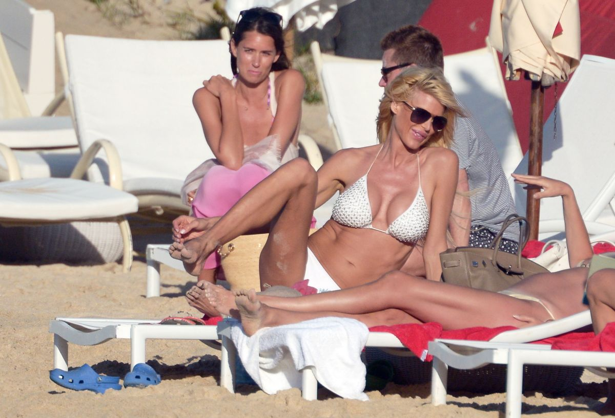 Victoria Silvstedt Bikini Beach St Barts