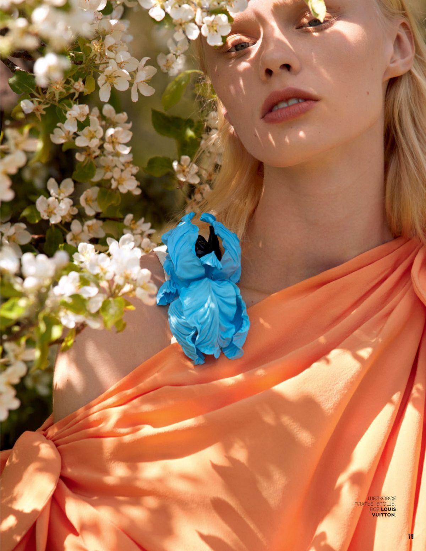Vilma Sjoberg Vogue Magazine Russia August