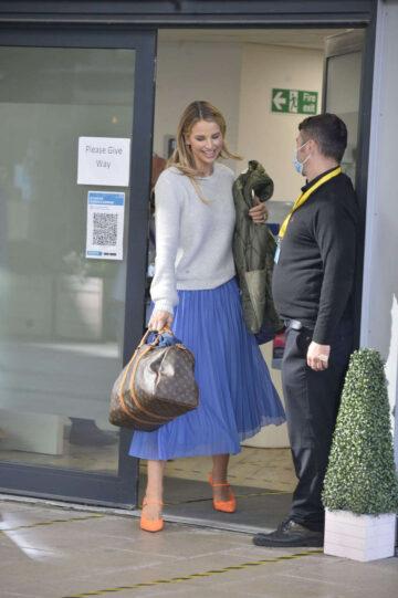 Vogue Williams Leaves Tv Studio Leeds