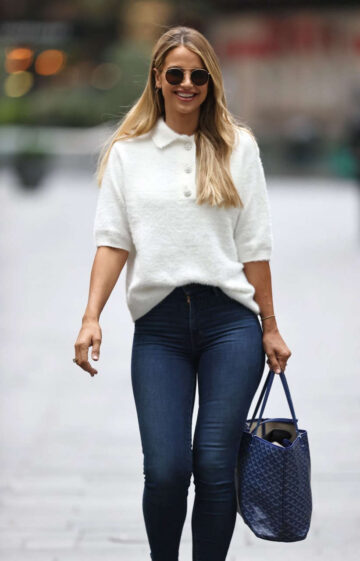 Vogue Williams Tight Denim Arrives Heart Radio London