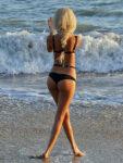 Zahia Dehar Bikini Beach Malibu
