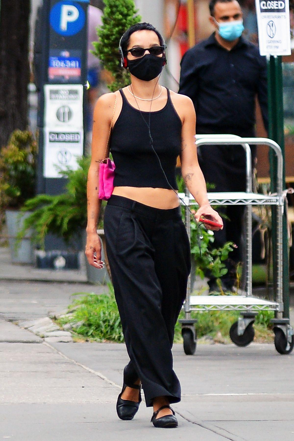 Zoe Kravitz All Black Out New York