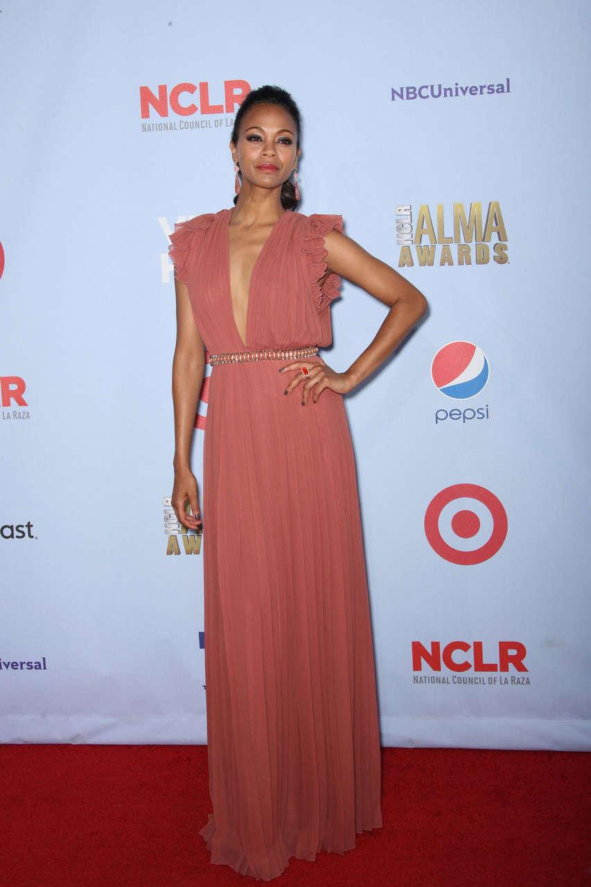 Zoe Saldana 2012 Nclr Alma Awards Pasadena